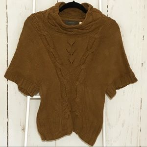 Anthropologie Guinevere Cable Knit Brown Sweater